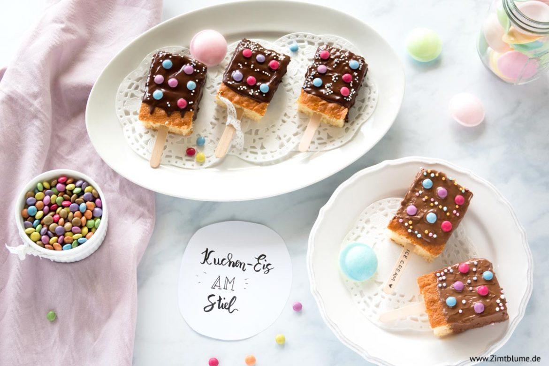 Kuchen Eis am Stiel