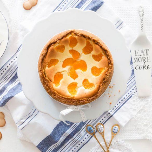 Foto Käsekuchen mit Mandarinen