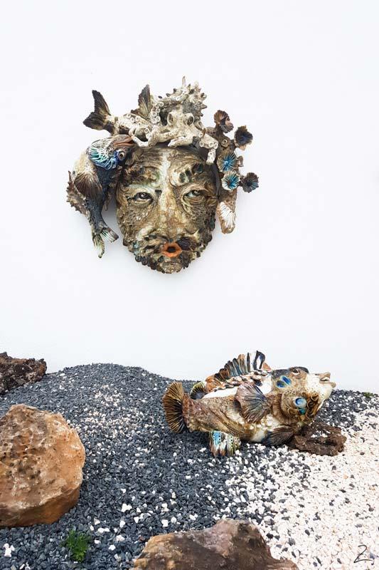 Kunst mit Muscheln Sagres Portugal