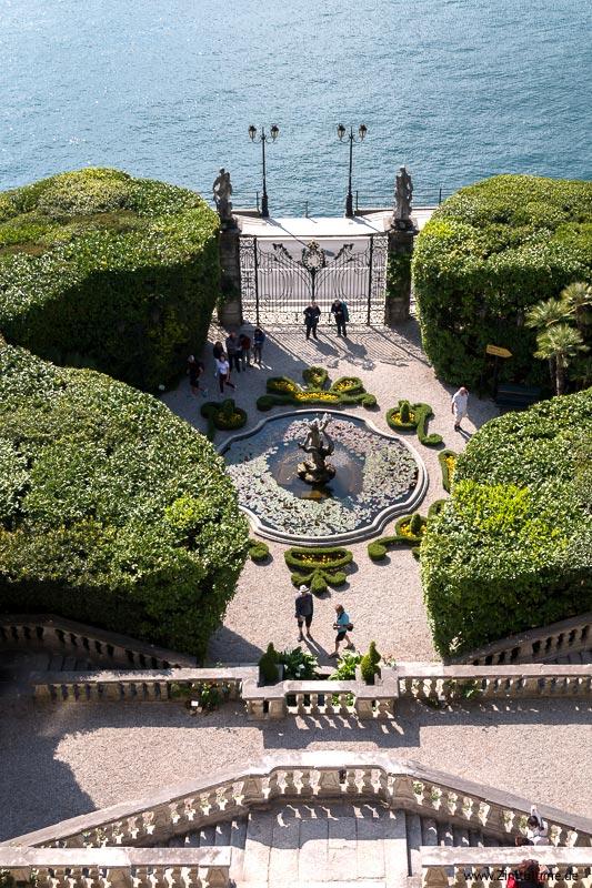 Villa Carlotta von oben