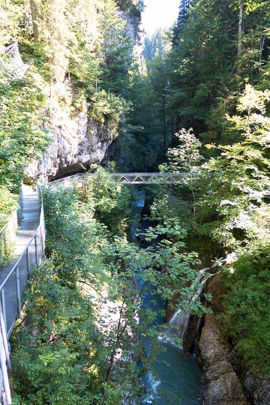 Brücke Breitachklamm in Oberstdorf im Allgäu