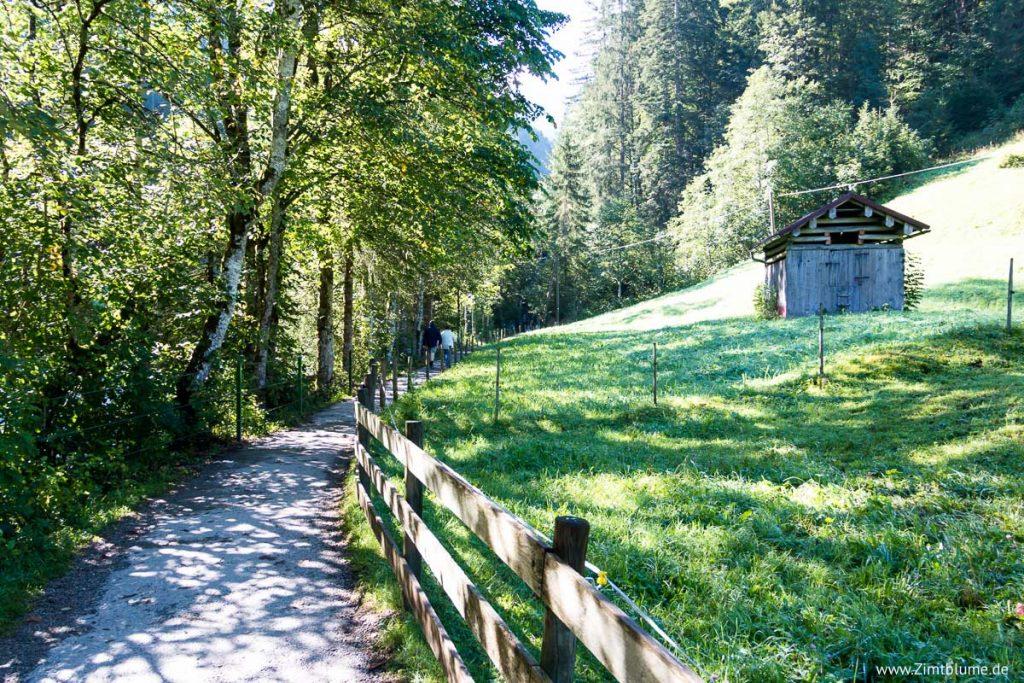 Wanderweg Breitachklamm in Oberstdorf