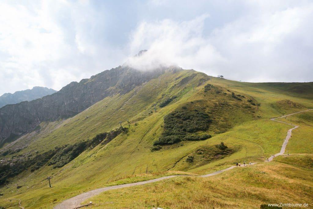 Ausblick Gipfelwanderung über den Fellhorngrat
