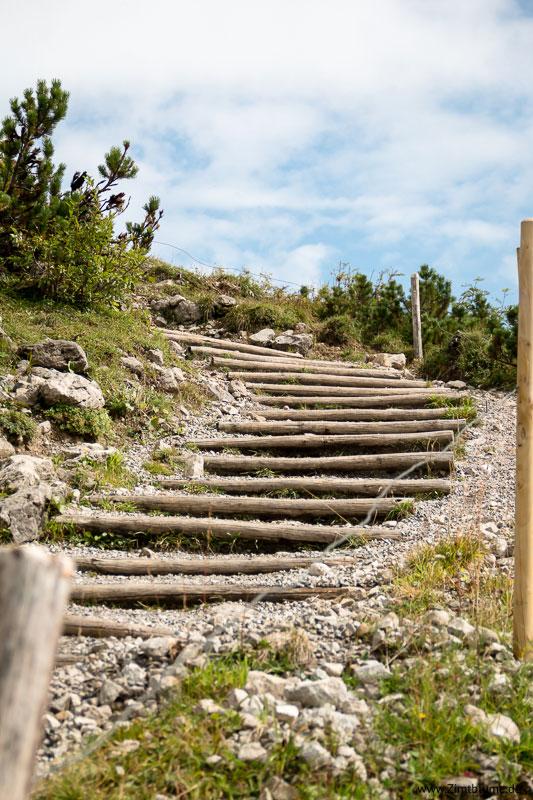 Treppe Gipfelwanderung über den Fellhorngrat