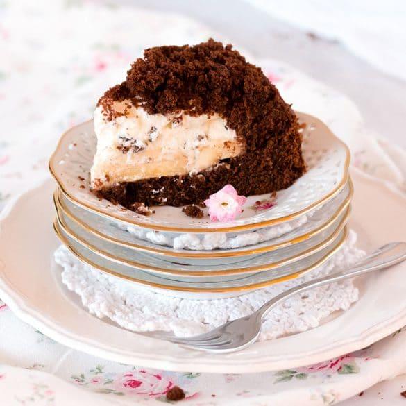 Anschnitt Kuchenstück Maulwurfkuchen