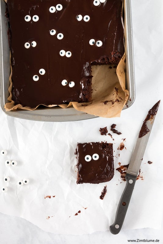 Halloween Rezept für Monster Brownies