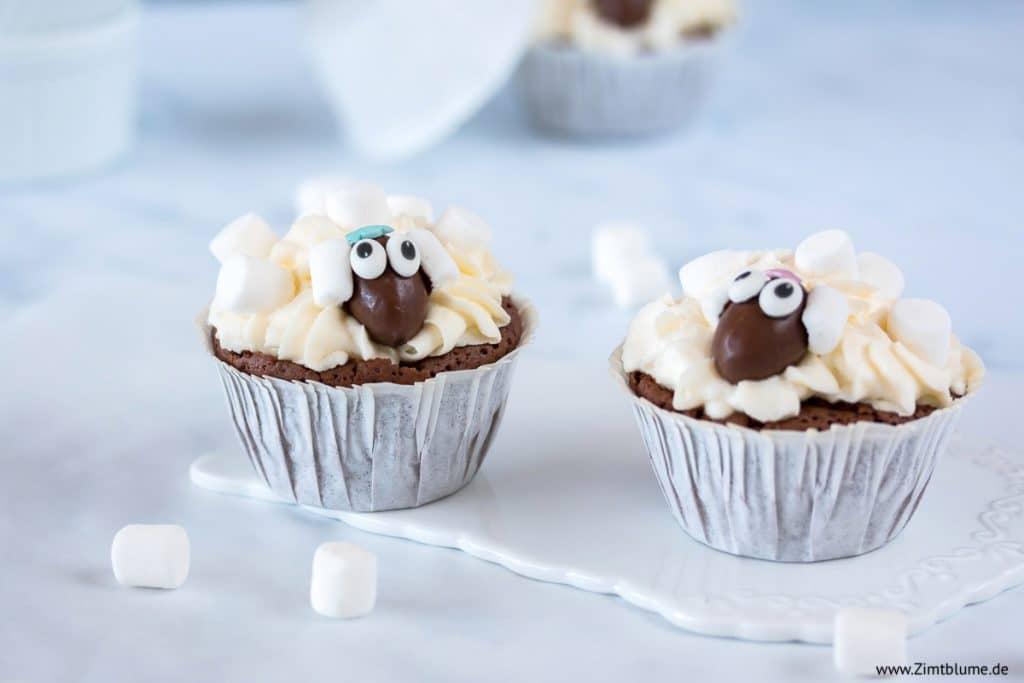 Süße Schäfchen Cupcakes