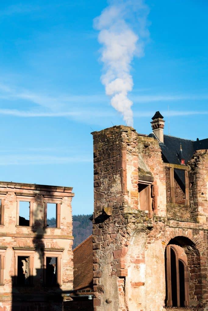 Schlossruine Heidelberg Nahaufnahme