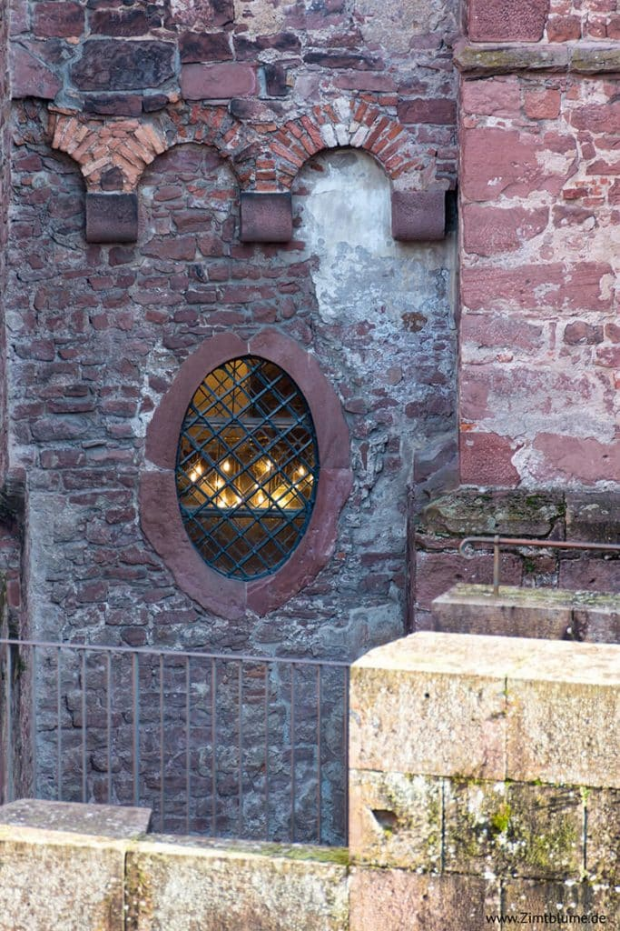 Detailaufnahme Fenster Schloss Heidelberg