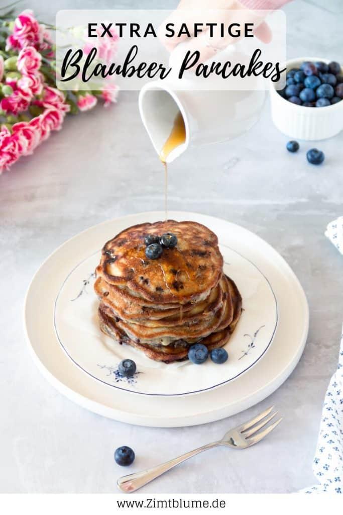 Rezept für Amerikanische Blaubeer Pancakes