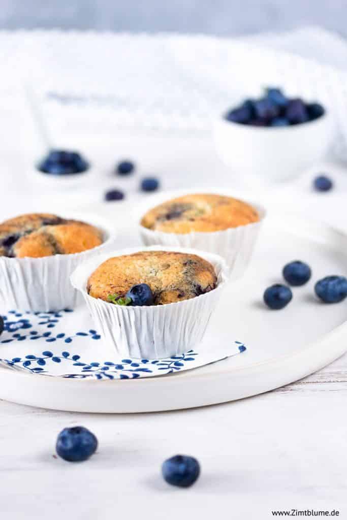 Einfache Blaubeer Muffins mit Joghurt