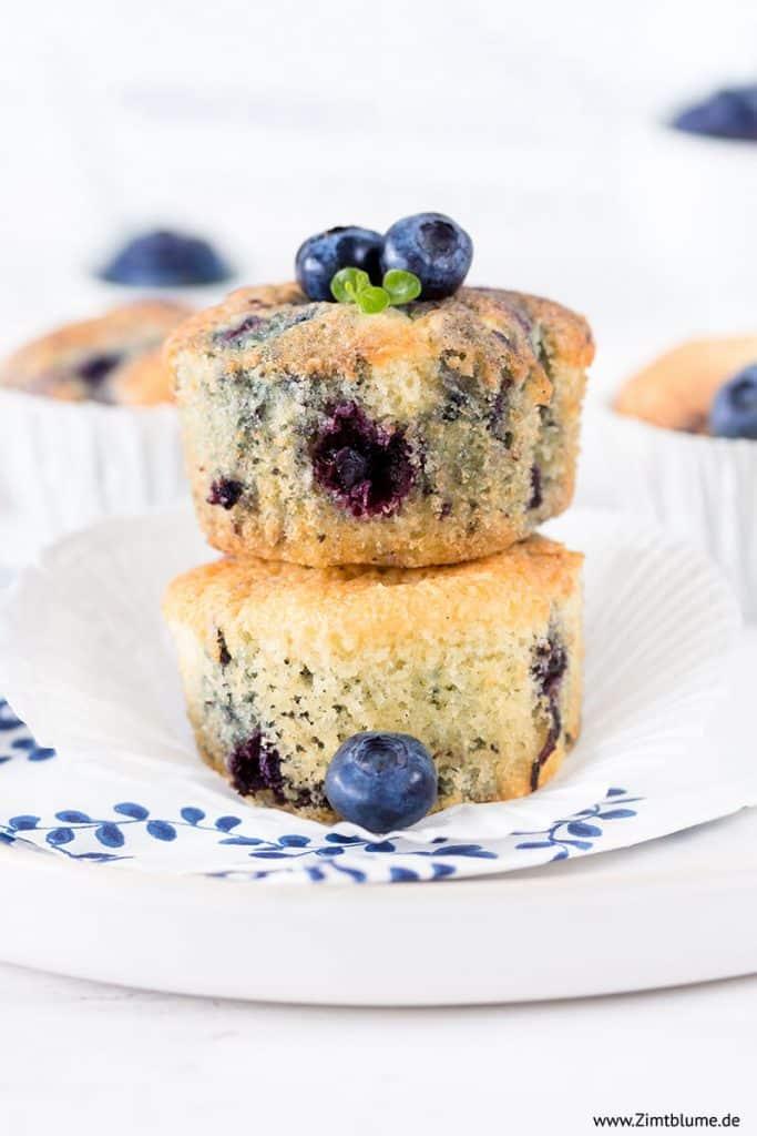 Schnelles Rezept für die besten Blaubeer Muffins