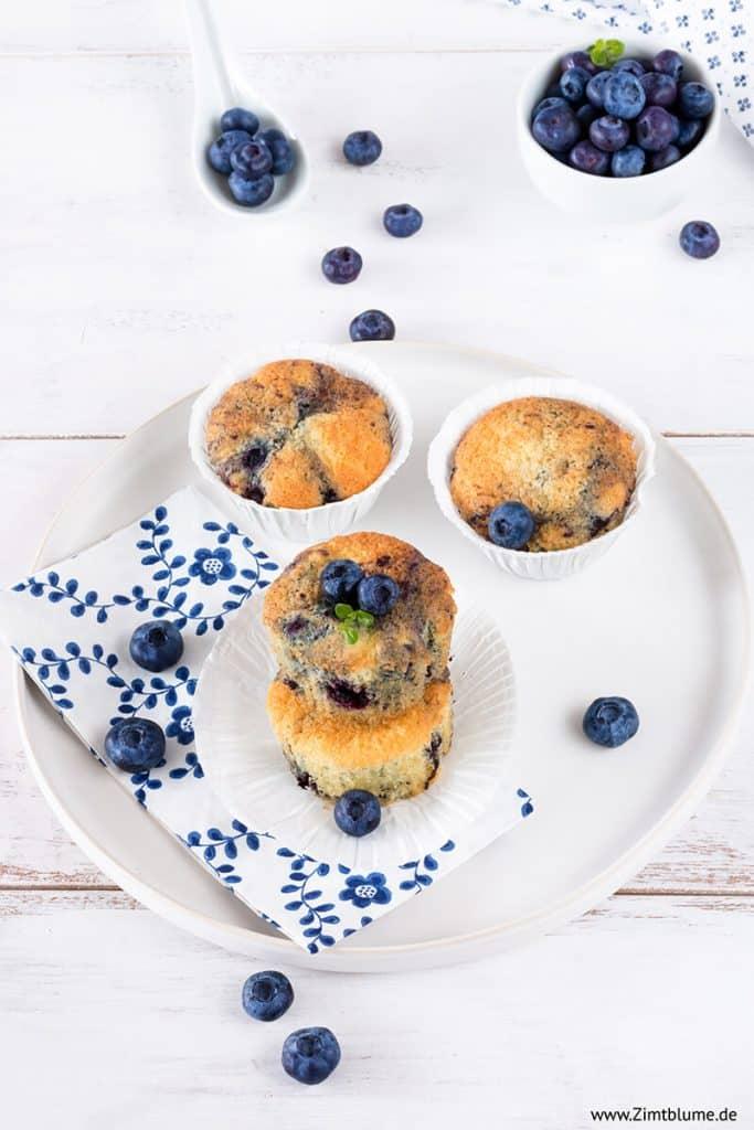 Schnelles Rezept für Heidelbeer Muffins