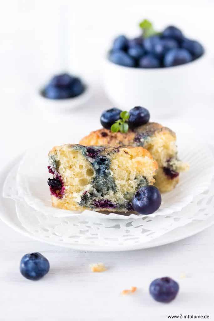 Heidelbeer Muffins halbiert