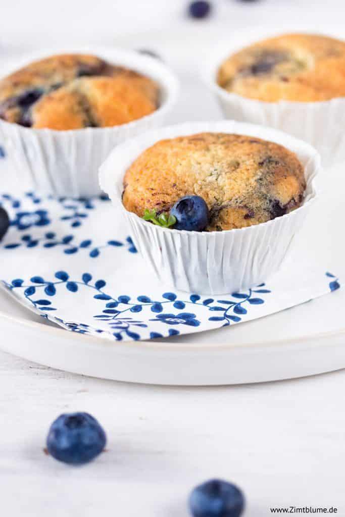 Rezept für saftige Heidelbeer Muffins
