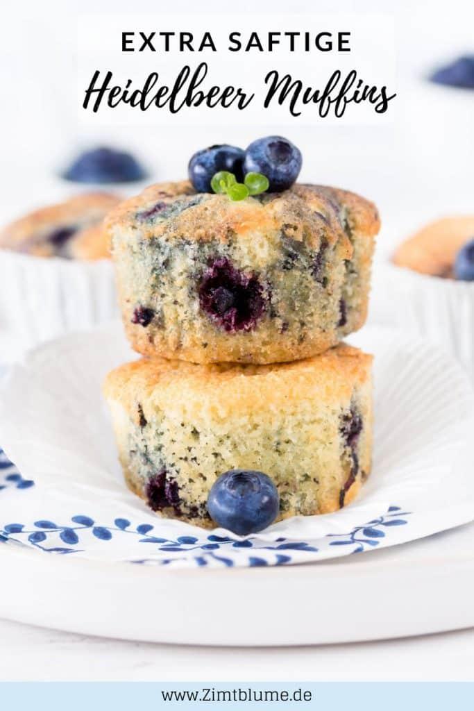 Blaubeer Muffins Pinterest Grafik
