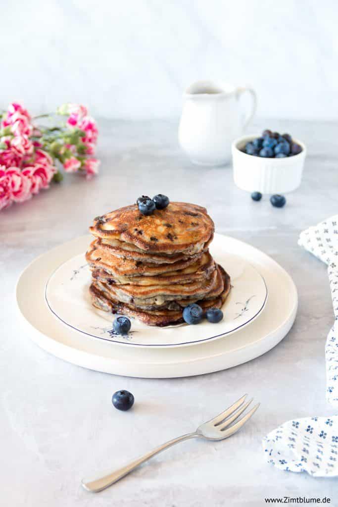 Saftige Blaubeer Pancakes