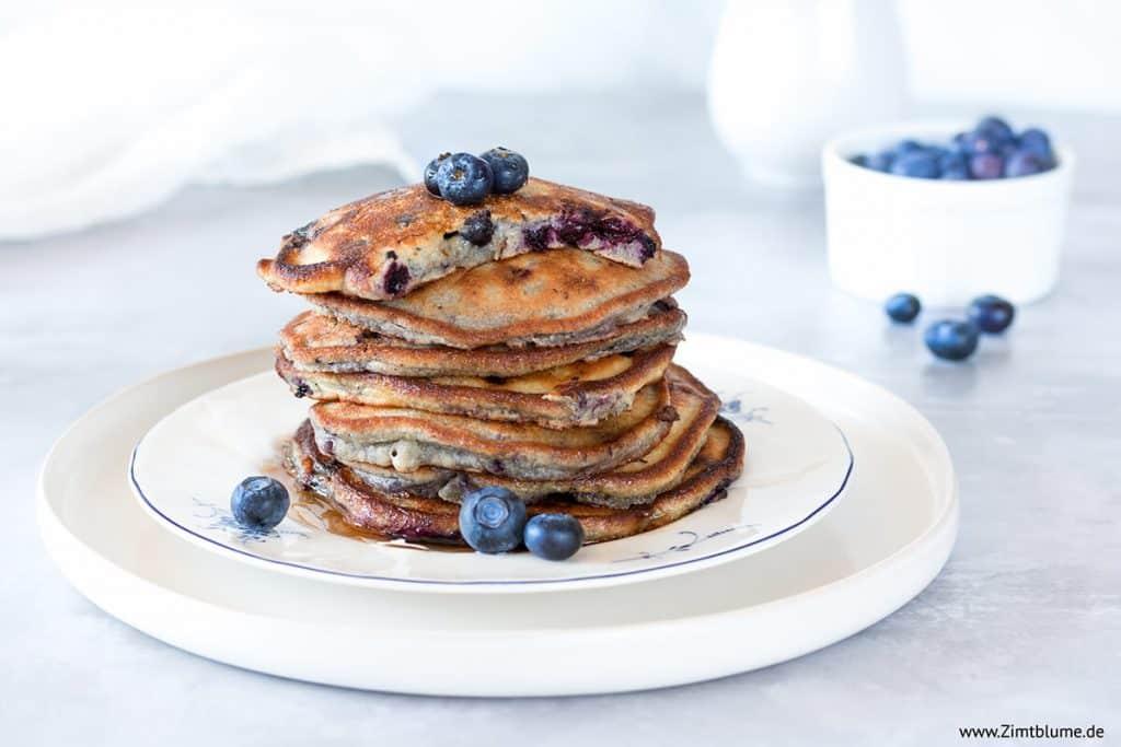 Das beste Blaubeer Pancakes Rezept