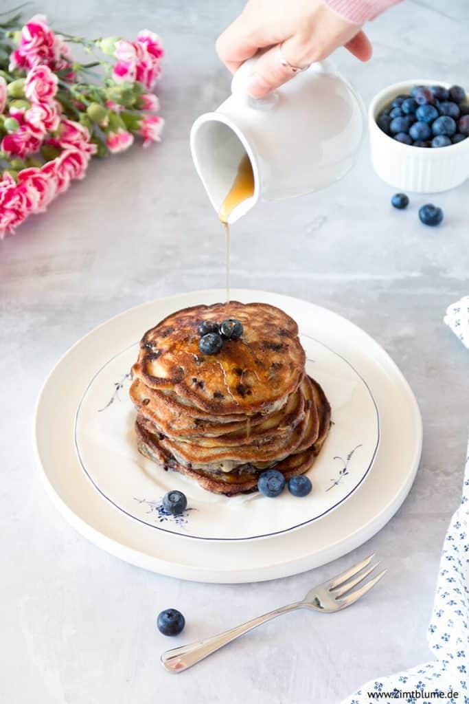 Das beste Blaubeer Pfannkuchen Rezept