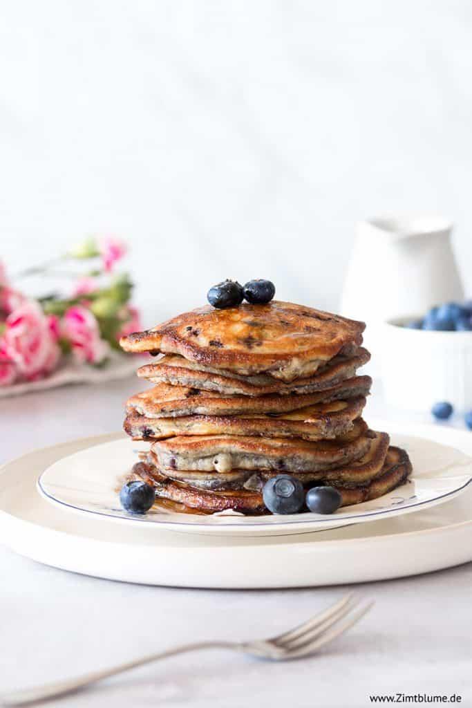 Heidelbeer Pancakes aus der Pfanne