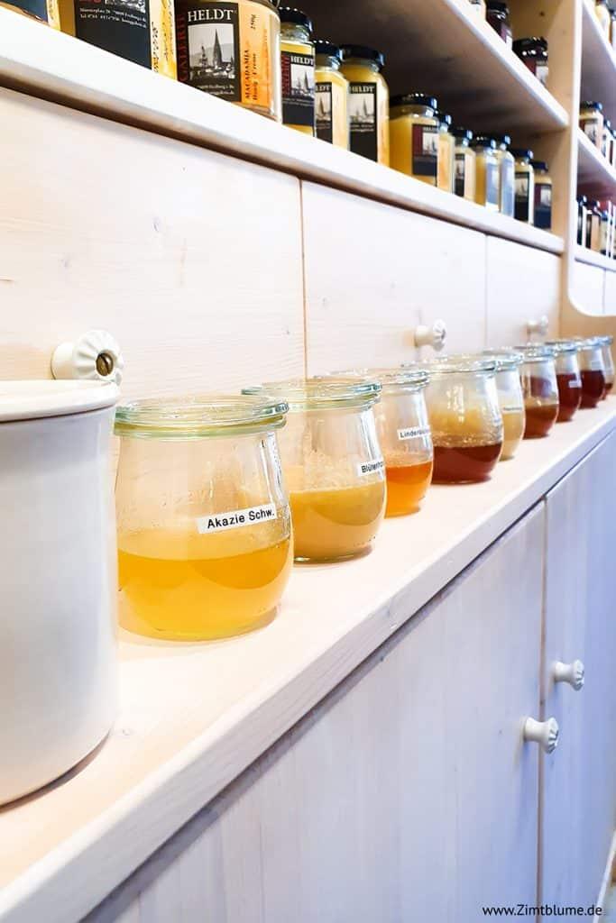 Honigsorten in der Honig Galerie Heldt