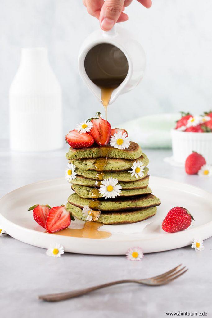 Die besten Matcha Pancakes
