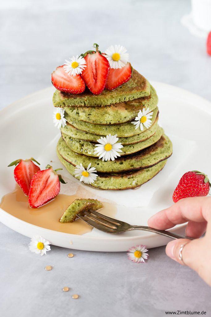 Rezept für die besten Pancakes mit Matcha