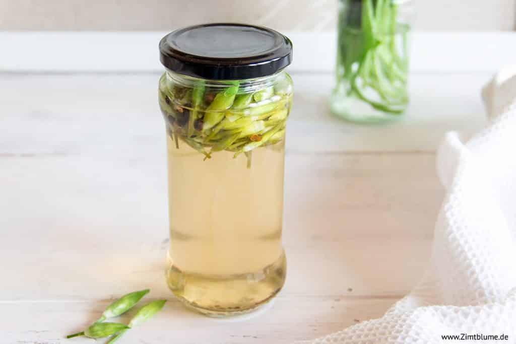 Rezept für eingelegte Bärlauchkapern aus Bärlauchblüten