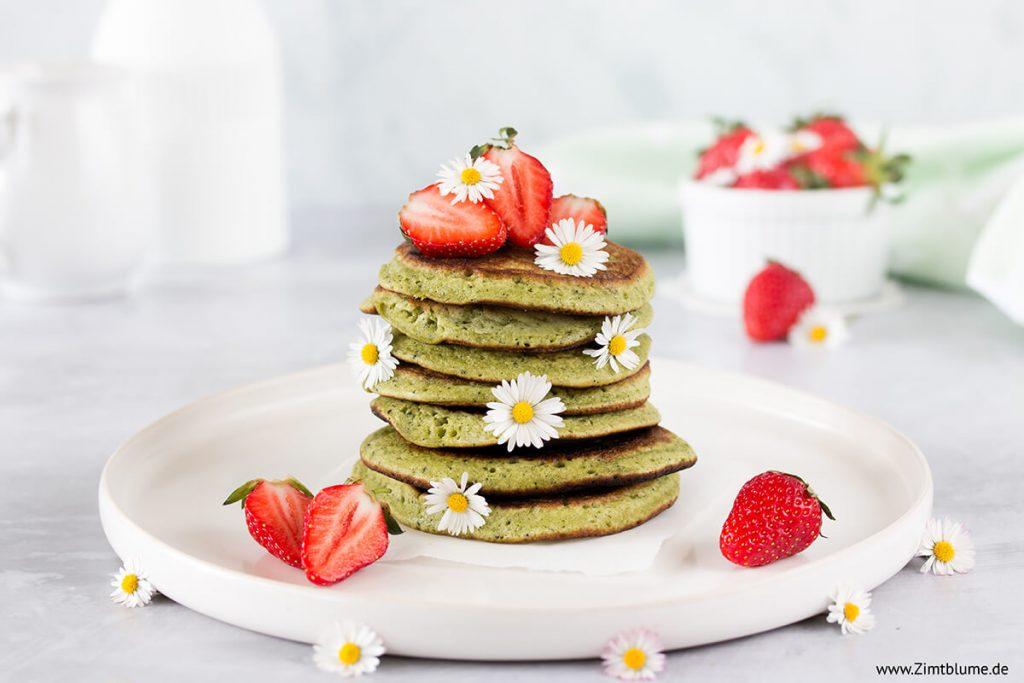 Die besten Pancakes mit Matcha zum Frühstück