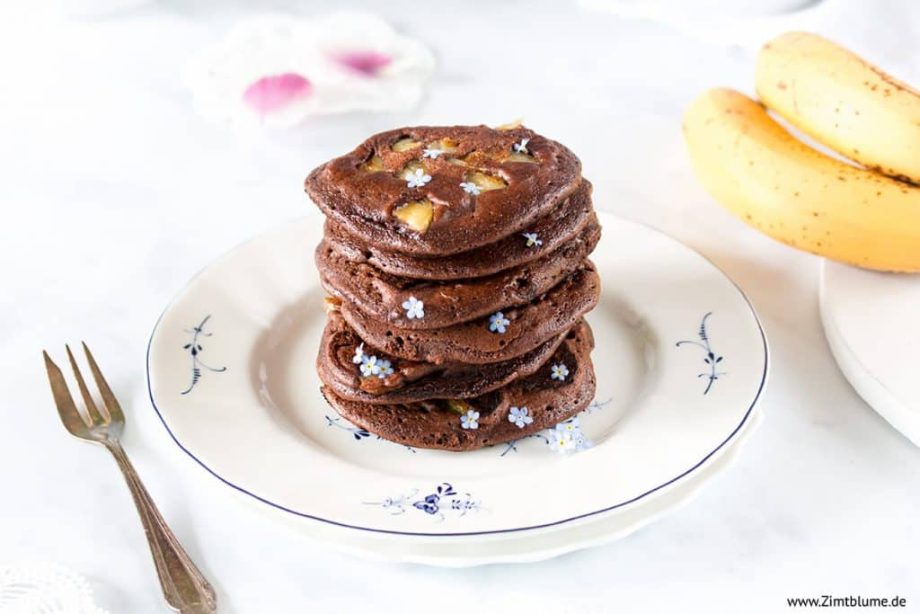 Einfaches Rezept für Schoko-Pancakes