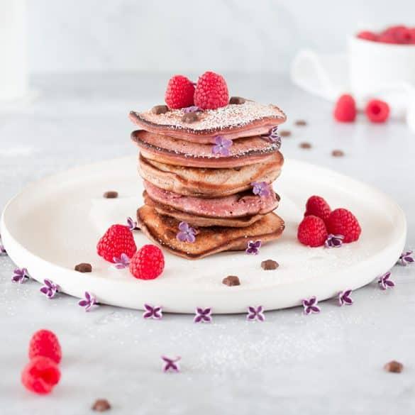Rezept für Himbeer Pancakes