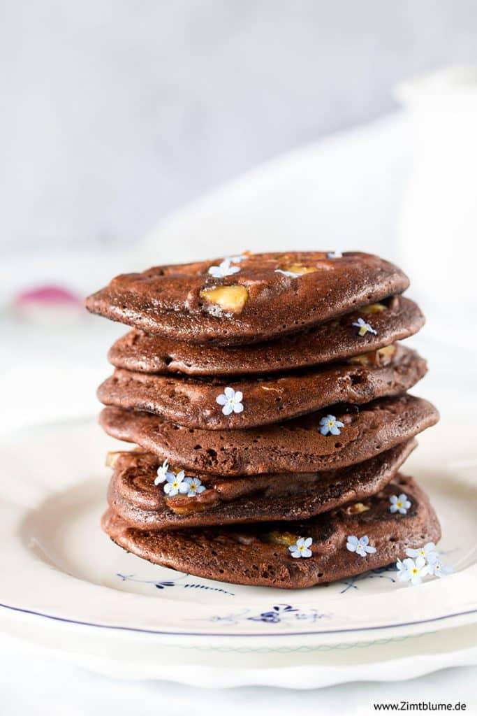 Schokoladen Pancakes zum Frühstück