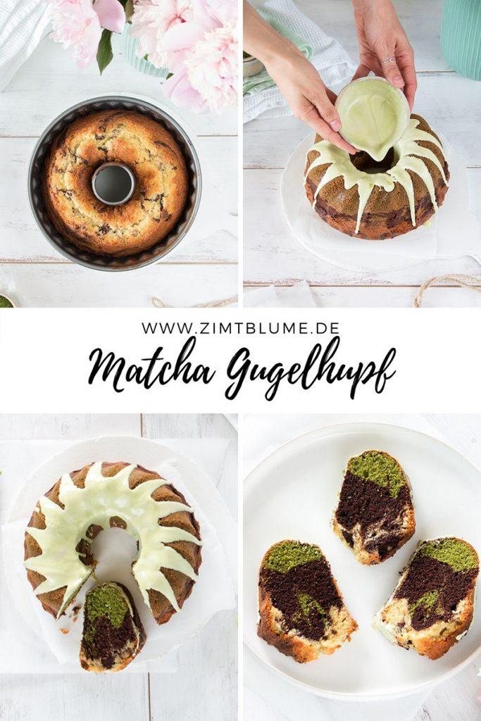 Matcha-Marmorgugelhupf backen
