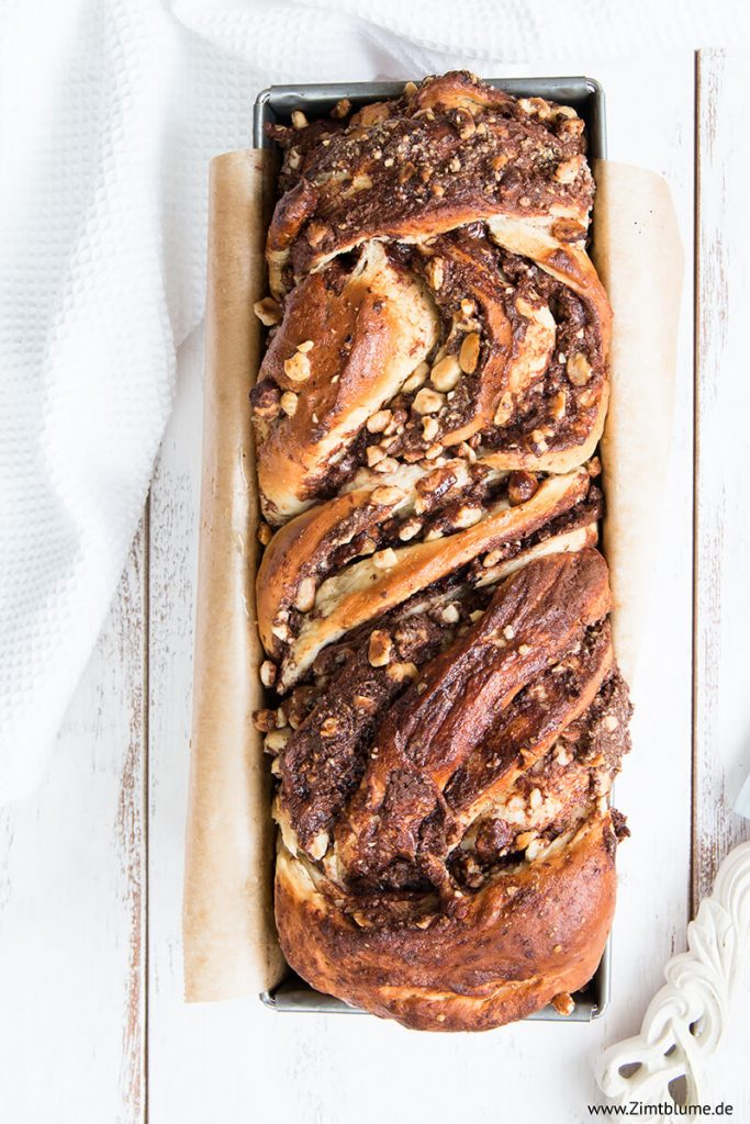 Saftigen Nutella Babka backen