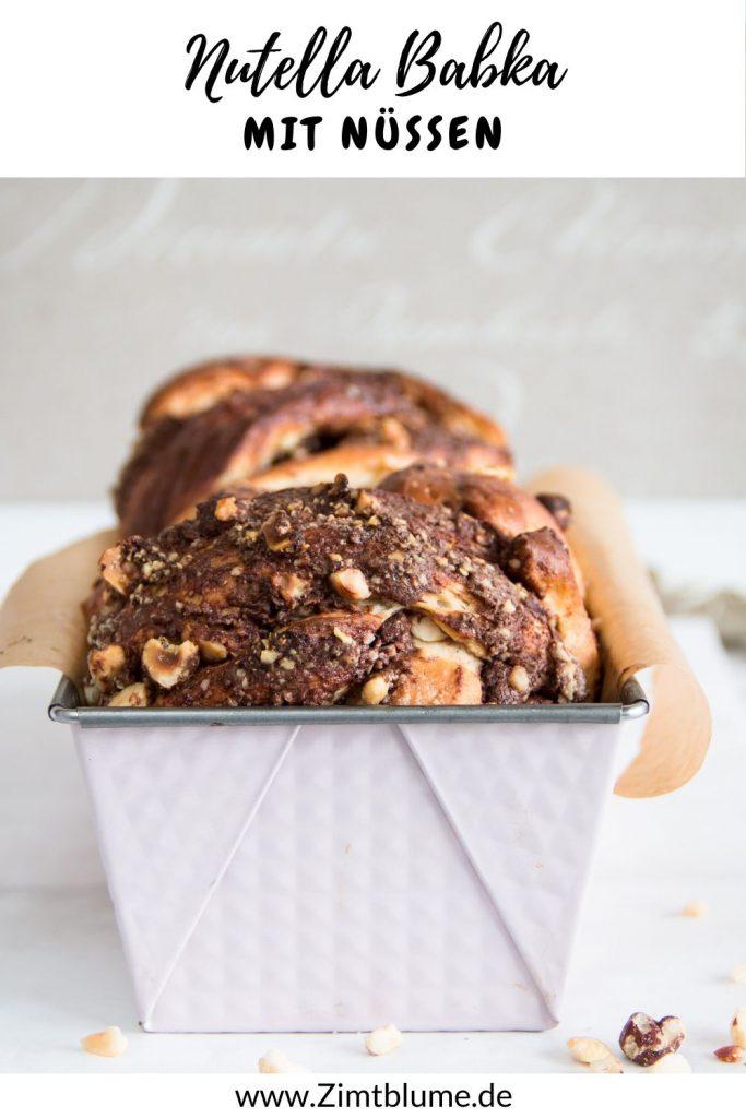 Nutella Babka mit Haselnüssen das beste Rezept