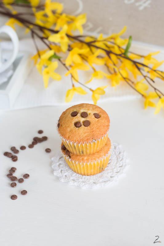 Einfache Muffins mit Schokostückchen