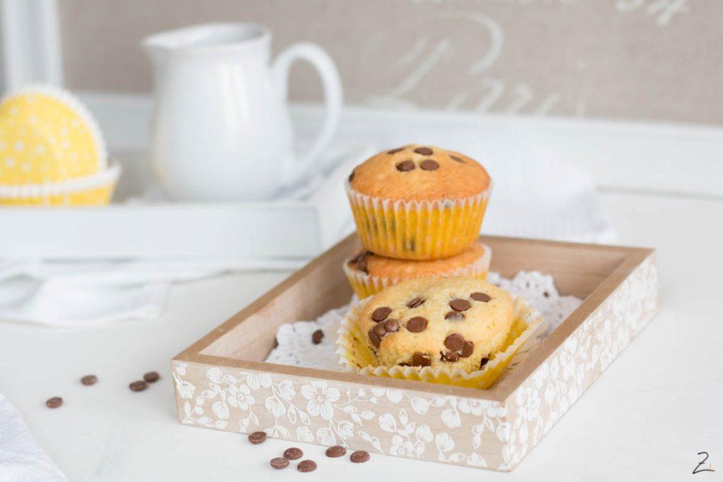 Grundrezept Muffins mit Schokostueckchen