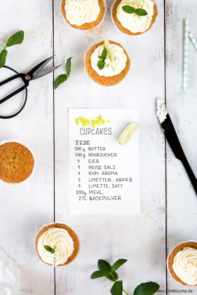 Muffins mit Rohrzucker und Limette