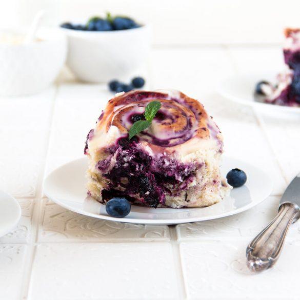 Rezept Blaubeerschneckenkuchen
