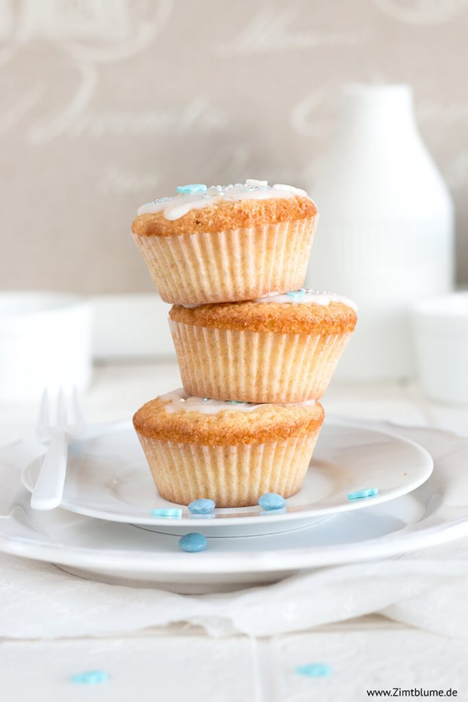Muffins Babyparty Junge
