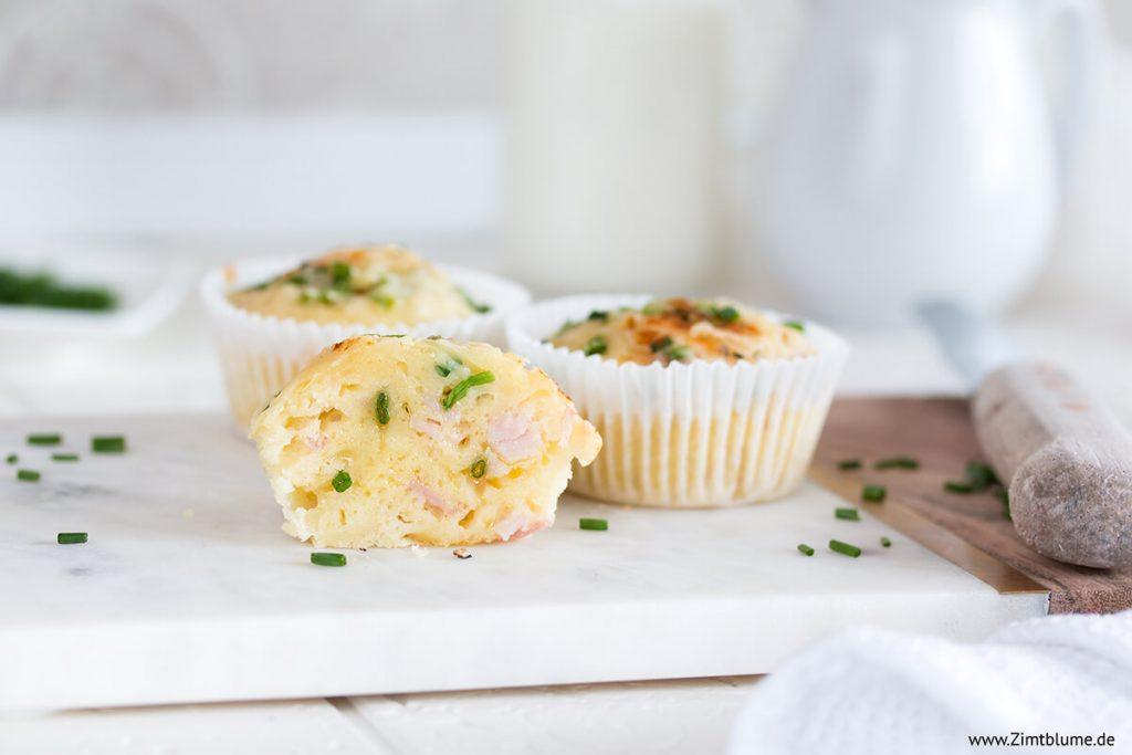 Einfache Schinken Käse Muffins