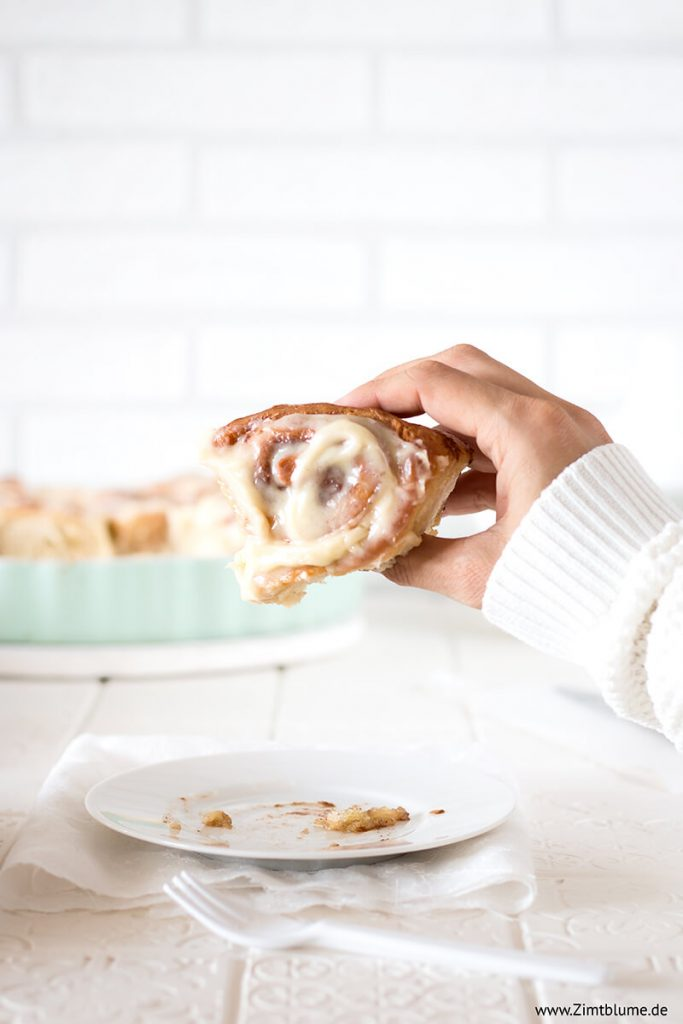Zimtschnecken Kuchen mit Frischkäse