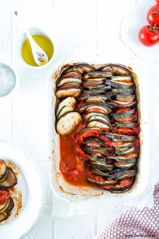 Ratatouille: Geschmorter Gemüseeintopf