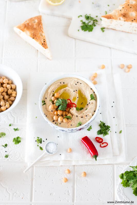 Original Hummus zubereiten