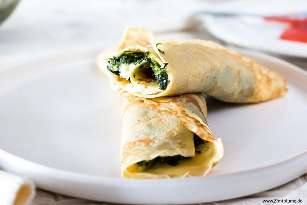 Das beste Rezept für Pfannkuchen mit Feta und Spinat