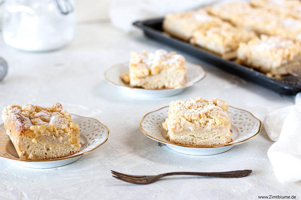 Puddingkuchen mit Streusel Rezept