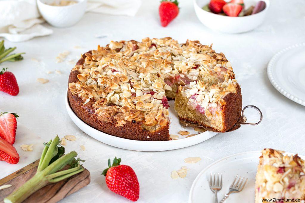 Erdbeer Rhabarber Kuchen Rezept