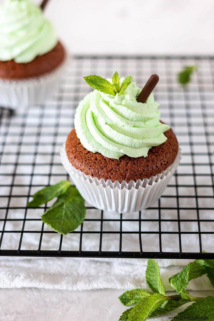 Pfefferminz Cupcakes