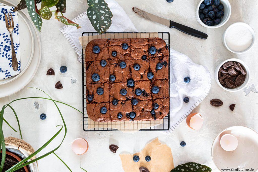 Blaubeer Brownies Rezept