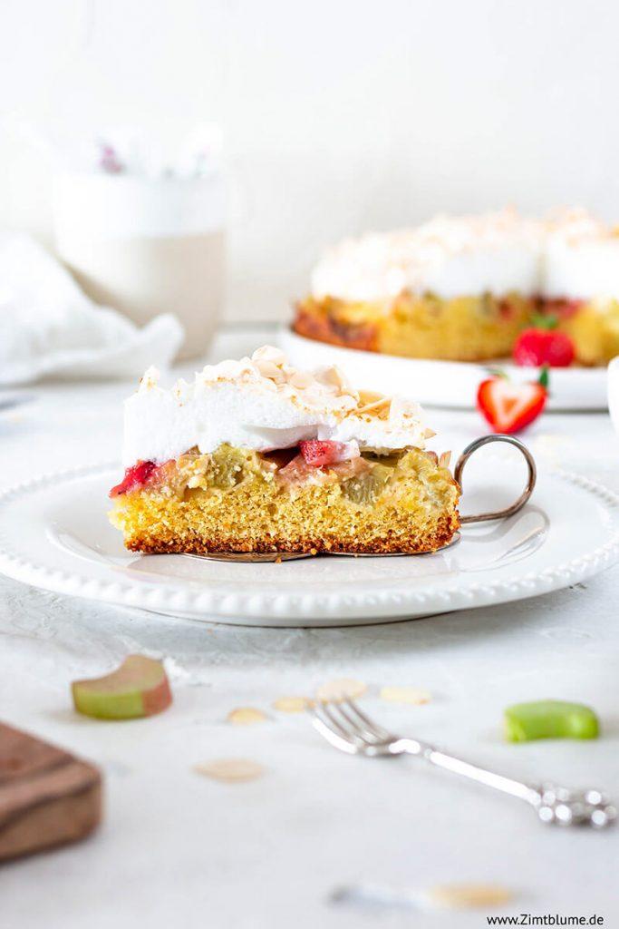 Der beste Rhabarberkuchen mit Baiser